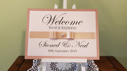 A3_welcome to our wedding sign- Rose gol