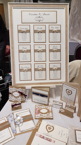 Rustic framed table plan with hessian an