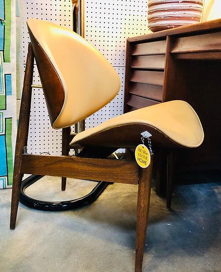 Calm Shell Walnut Accent Chair