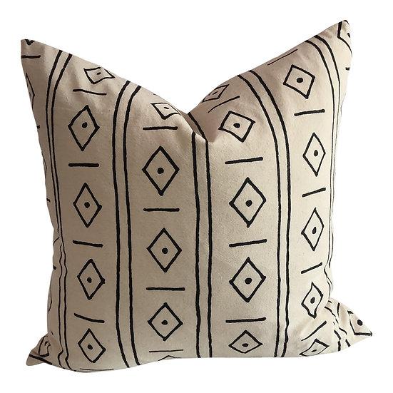 Boho Chic Diamonds Organic Cotton Pillow