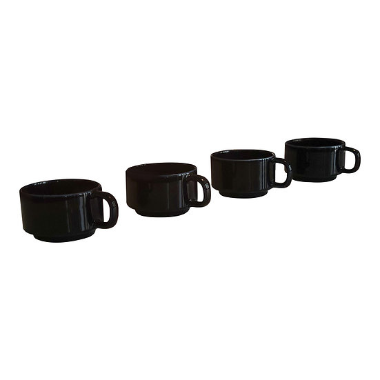 Mid-Century Coffee Cups - Set of Four