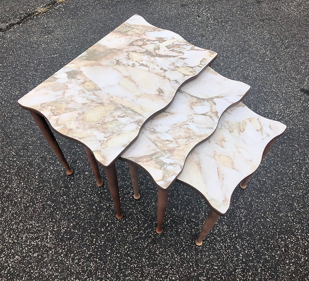 50's Faux Marble Nesting Tables