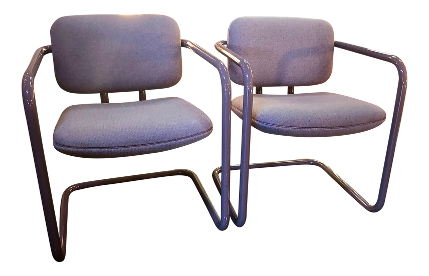 Cantilever Chairs - Set of two