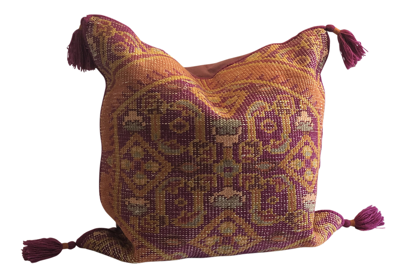 Hand Knotted Pillow - Pink