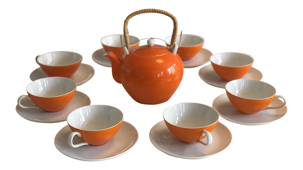 Mid Century Tea Set - 17 pc.