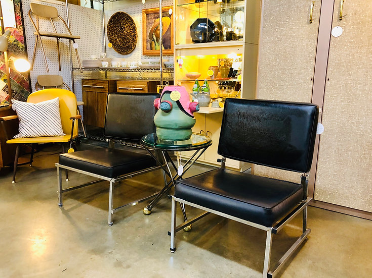 70's Black Accent Chairs