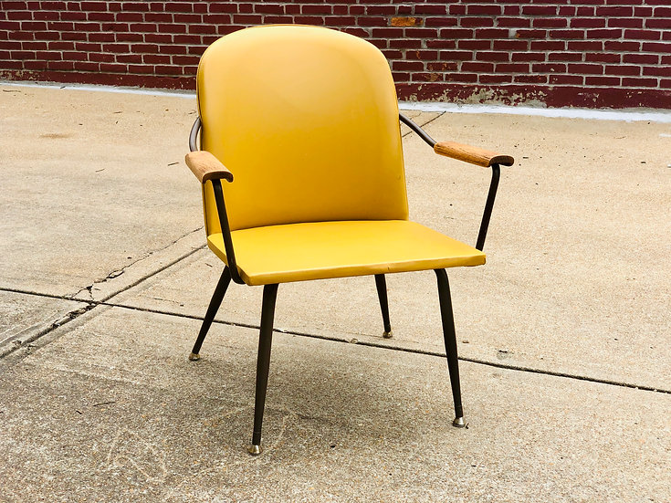 MCM Mustard Arm Chair