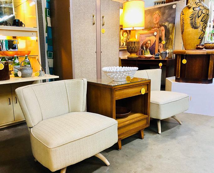Heywood Wakefield Style Swivel Chairs