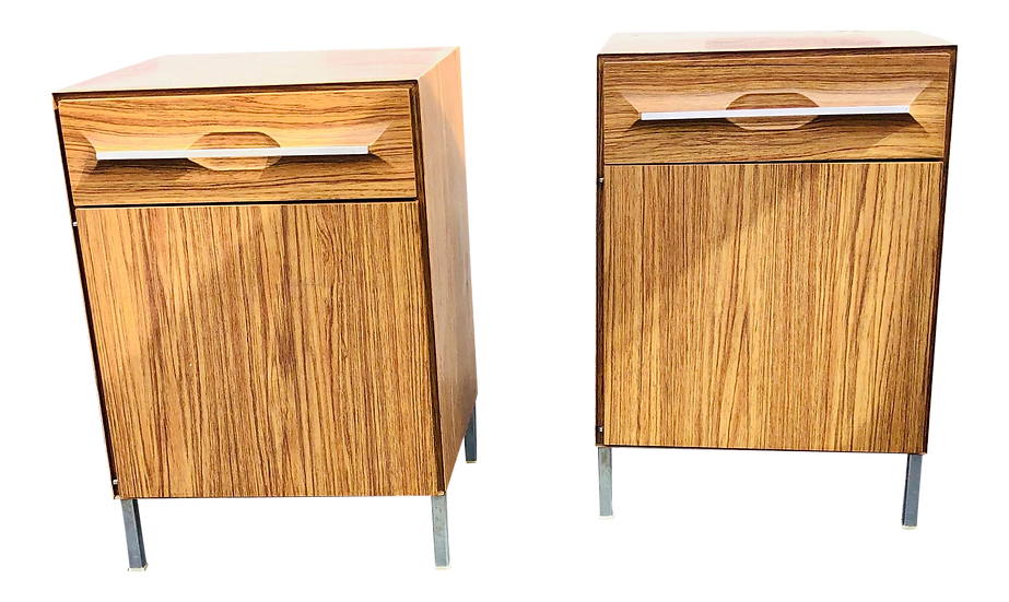 Mid-Century Modern Metal Accent Chests. Set of two