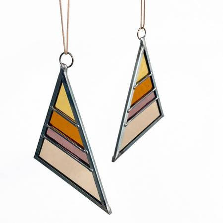 Small Stained Glass Triangle - Summer