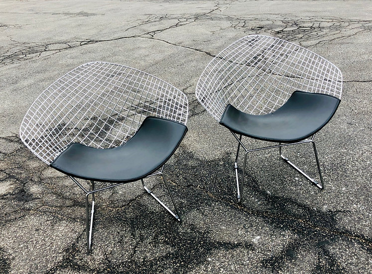 Bertoia Style Diamond Chairs - Set of two