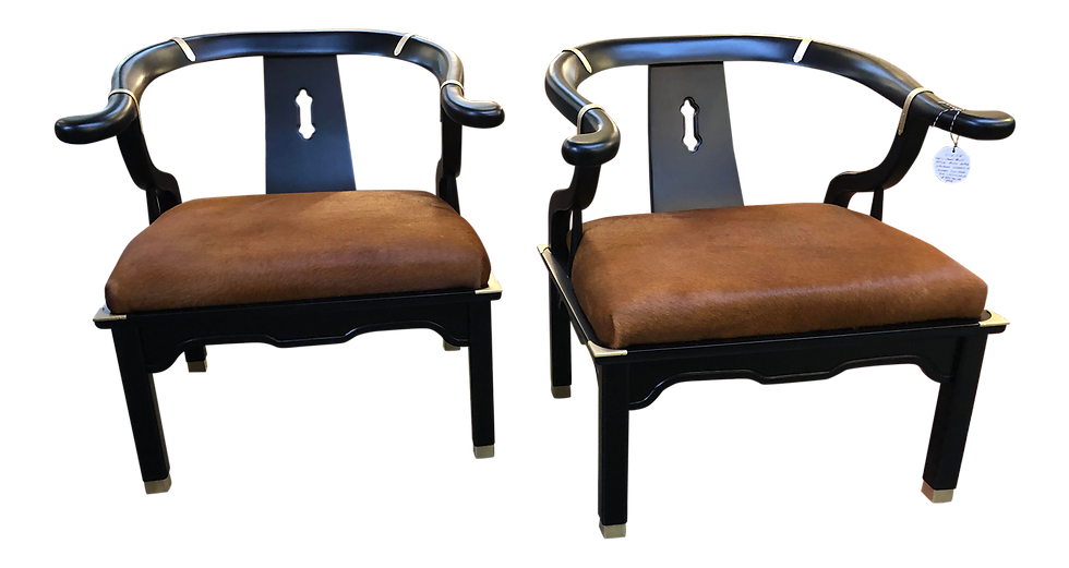 1960's James Mont Style Ming Chair - Set of two