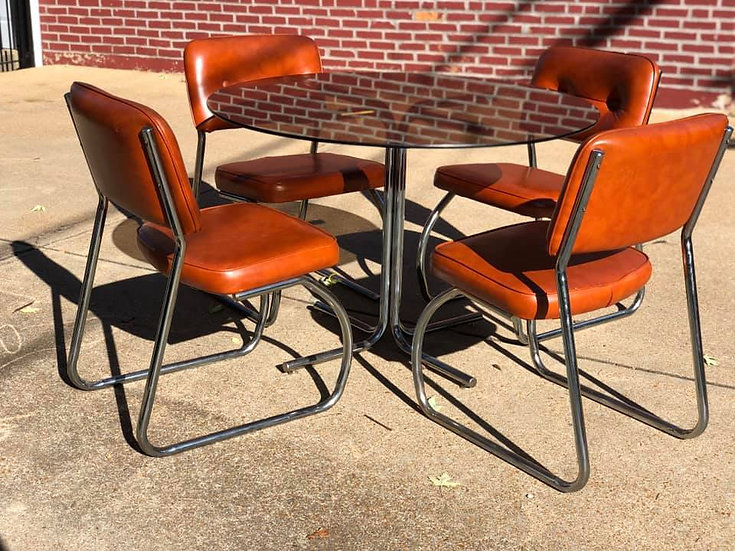 60's Tubular Steel Dining Set