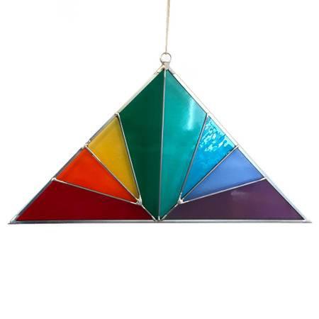 Panel - Large Triangle Rainbow