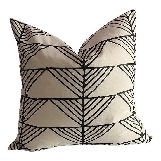 Boho Chic Arrows Organic Cotton Pillow