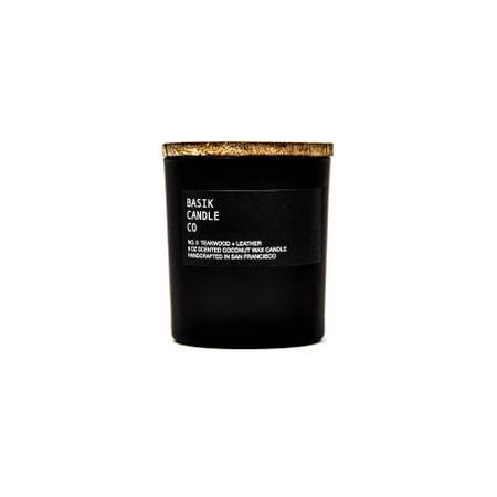 No. 3 Teakwood + Leather 6 oz candle