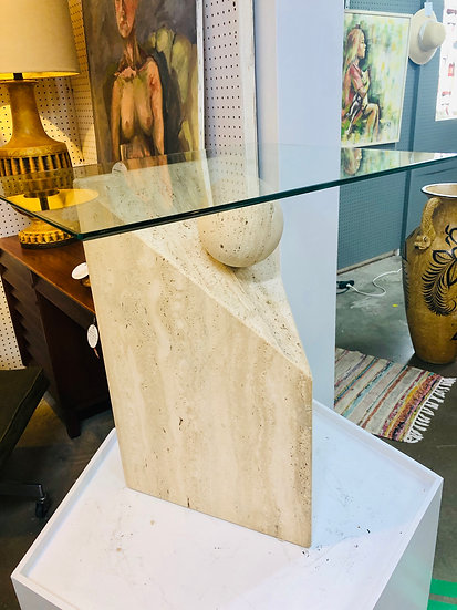 Post Modern Stone Accent Table