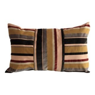 Lumbar Grosgrain Velvet Pillow