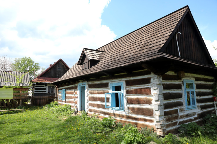 Typical Lemkos wooden house
