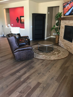 Hickory flooring in Family Room