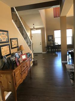Red Oak Flooring with a custom Bona stain