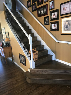 Red Oak Staircase with a custom Bona stain