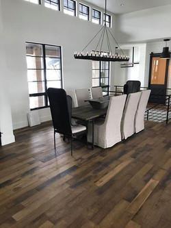 Red Oak flooring in Dining Room