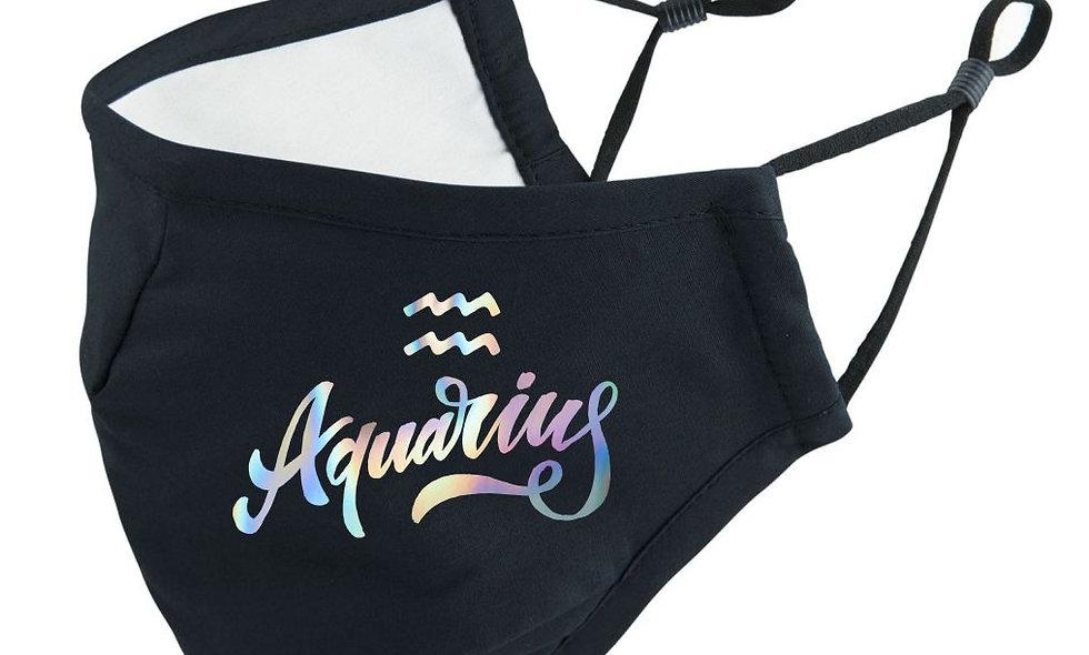 Aquarius Zodiac Sternzeichen Mundschutz Maske