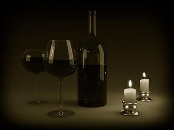 svíčkami Wine
