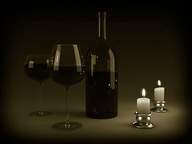 Wino świecach