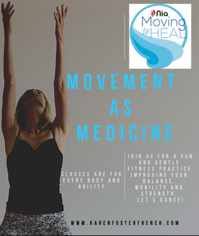 NIA - Moving to Heal |Movement as Medicine |  May 15, 22 & June 5, 12, 19, 26