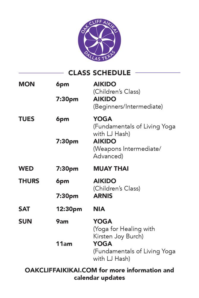 Class Schedule...