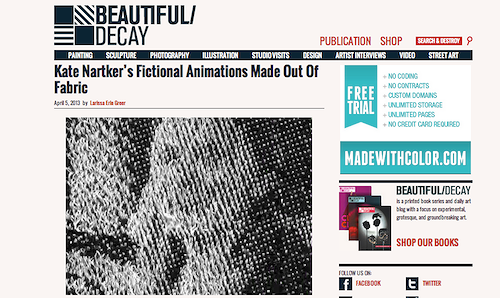 A nice write up about my work on Beautiful Decay