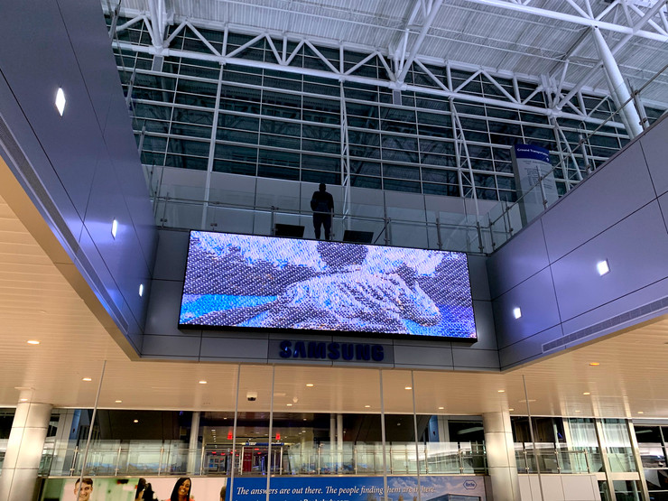 Animation on view at Indianapolis International Airport