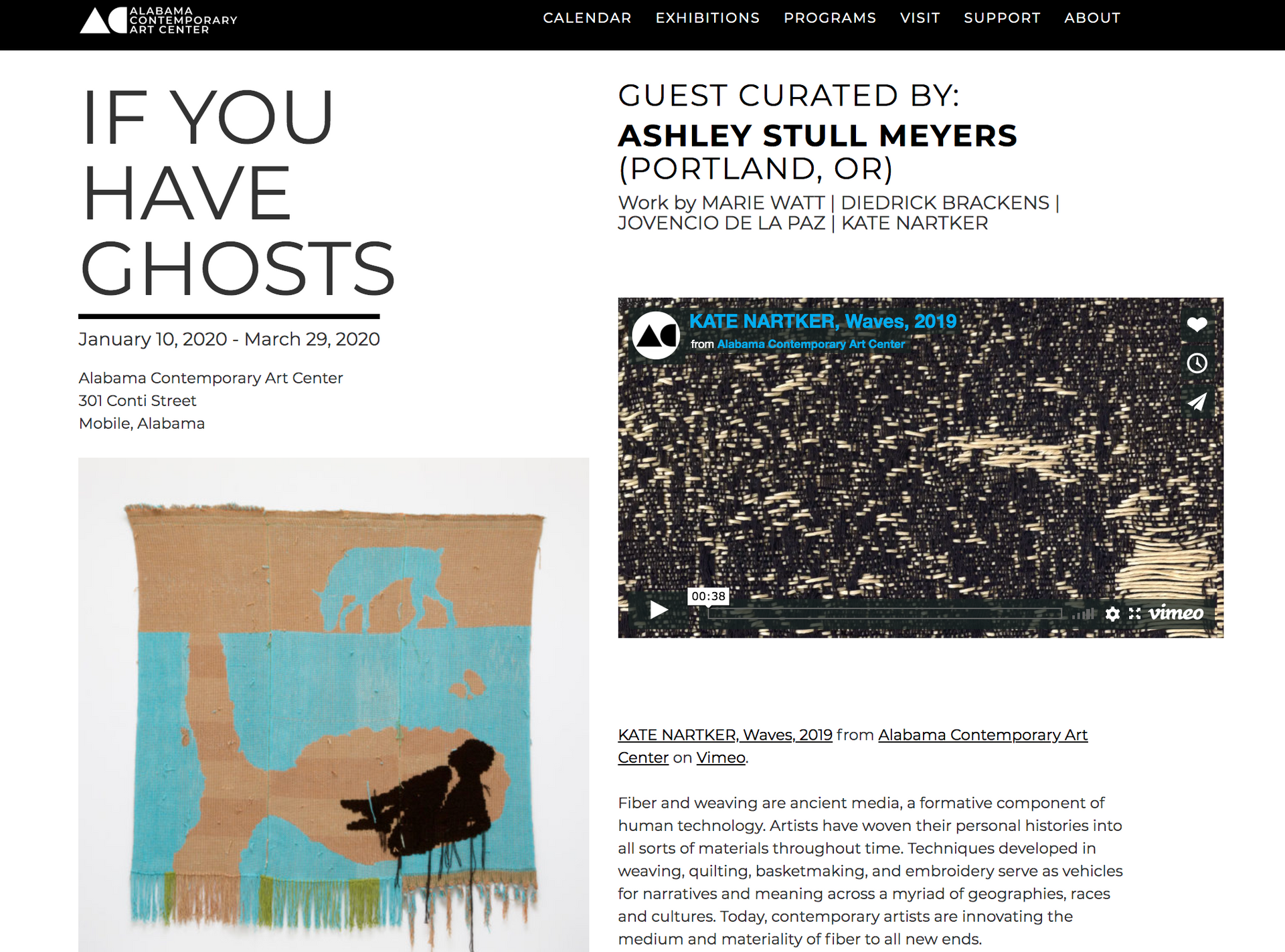 IF YOU HAVE GHOSTS opens January 10th at Alabama Contemporary