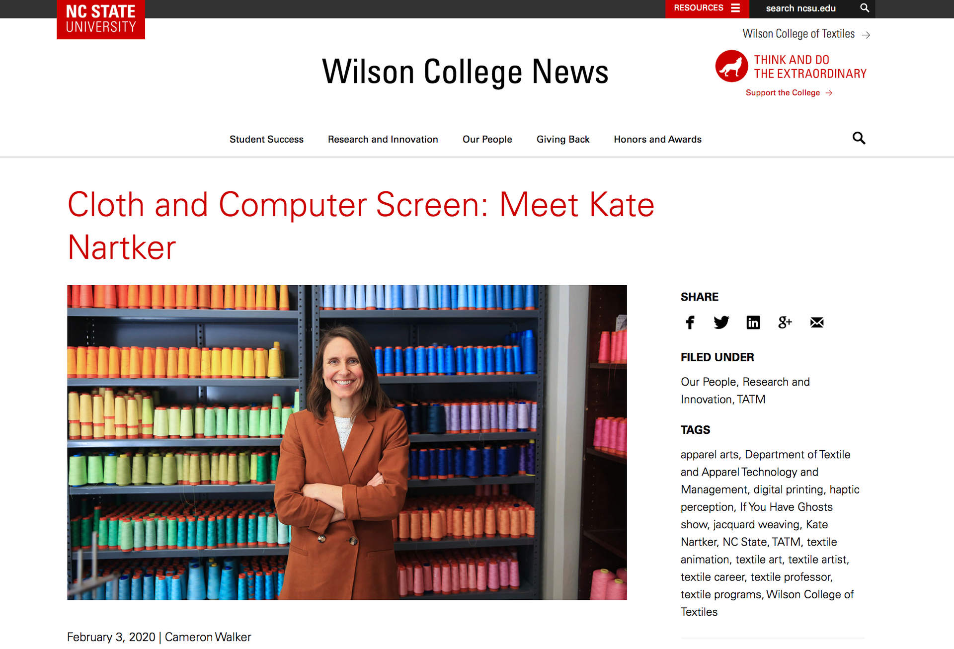 New teaching position at NC State