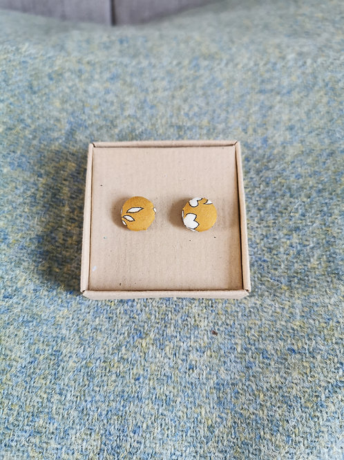 Autumn Leaves Yellow Stud Earrings