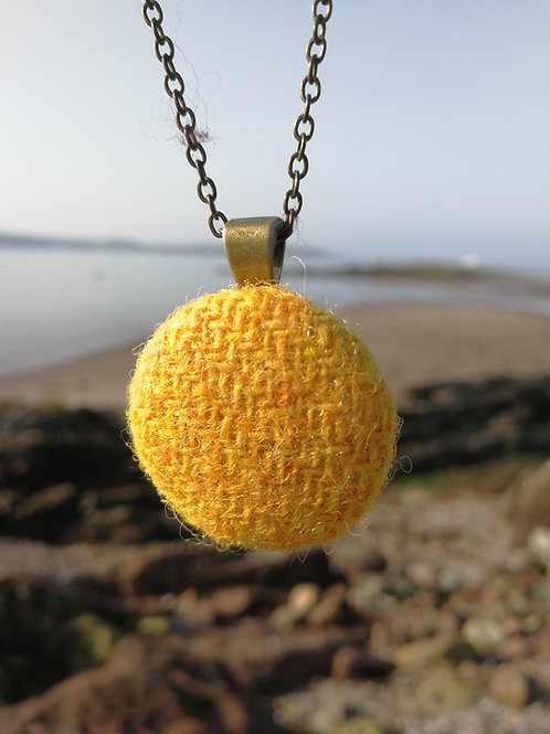Harris Tweed Yellow Pendant
