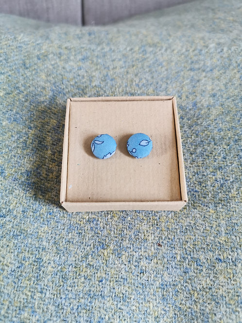 Autumn Leaves Blue stud earrings