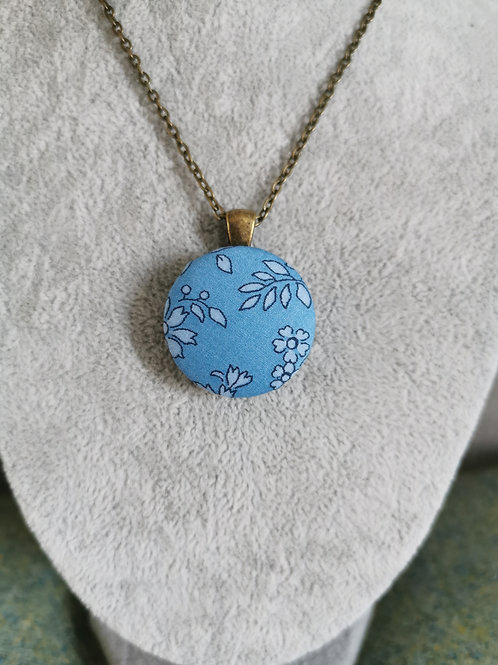 Autumn Leaves Blue Pendant