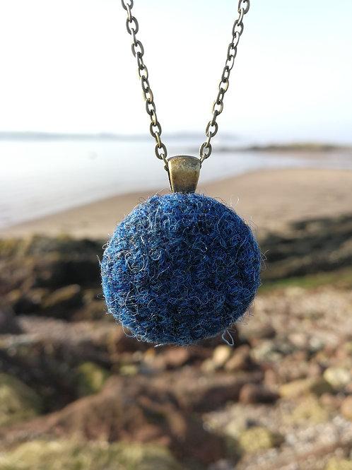 Harris Tweed Denim Blue Pendant