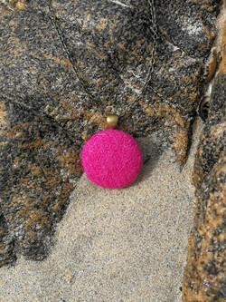Bright pink Harris Tweed