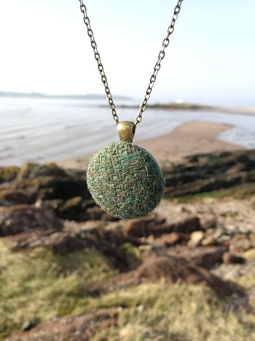 Harris Tweed Forest Green Pendant