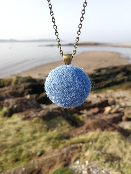Harris Tweed Baby Blue Pendant