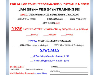 FEBRUARY TRAININGS
