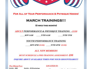March Trainings