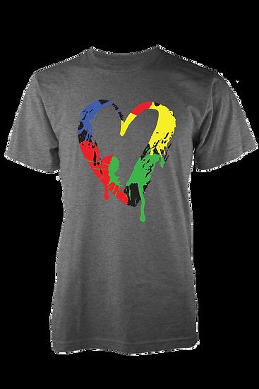 Real Love Lives Free Heart Premium Tee (Grey)