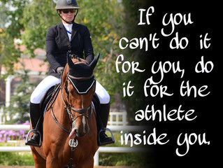 If you can't do it for you, do it for the athlete inside you.
