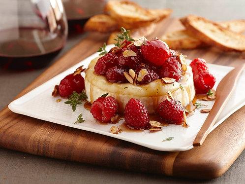Warm Brie & Raspberry on Baguette