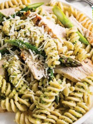 Fusilli with Pesto and Grilled Chicken